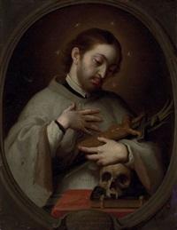 portrait of saint luis gonzaga by juan patricio morlet[te] ruiz